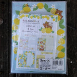 LH51301-San-X Rilakkuma Fresh Lemons Large Letter Set-Stripes