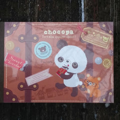 MM04901—San-X Chocopa Sweet Chocolate Large Memo Pad with Bonus Sticker Sheet-Travel Trunk
