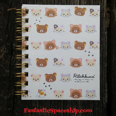 MM27801-San-X Rilakkuma Cosplay Kitten Hardcover Pocket Spiral Notebook-Faces