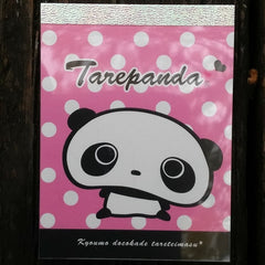 MM53701P-San-X Tarepanda Hearts & Dots Small Memo Pad-Pink with White Dots