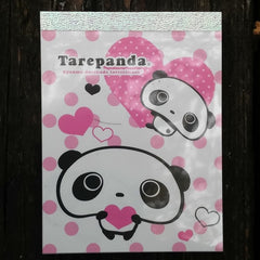 MM53701W-San-X Tarepanda Hearts & Dots Small Memo Pad-White with Pink Dots & Hearts