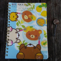 NY92601-San-X Rilakkuma Fresh Lemons Large Spiral Notebook-Sunday Brunch