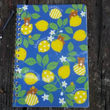 NY92701-San-X Rilakkuma Fresh Lemons Large Spiral Notebook-Blue