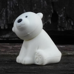 ER-WILDANIMALS-Iwako Wild Animal Japanese Puzzle Eraser-Polar Bear White
