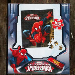 FSP010-PZZL04-Marvel Comics Ultimate Spider-Man 100 Piece Puzzle