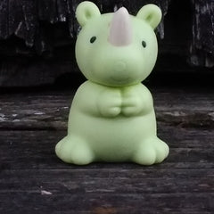 ER-WILDANIMALS-Iwako Wild Animal Japanese Puzzle Eraser-Rhinoceros Mint