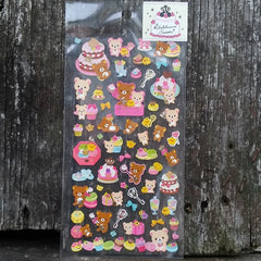 SE09901-San-X Rilakkuma Rilakkuma Sweets Clear Sticker Sheet-White