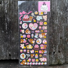 SE09902-San-X Rilakkuma Rilakkuma Sweets Clear Sticker Sheet-Pink