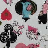 SE12002-San-X Sentimental Circus Blackjack Sticker Sheet-Black