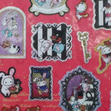 SE20601-San-X Sentimental Circus Alice & The Pirates Sticker Sheet-Wine