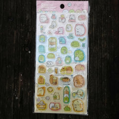 SE24807-San-X Sumikko Gurashi Corner Buddies The Gurashi Four Epoxy Sticker Sheet
