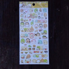 SE27801-San-X Sumikko Gurashi Corner Buddies Yummy Sushi Sticker Sheet-Yellow