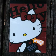 SJ64358-Sanrio Japan Hello Kitty Large Memo Pad with Bonus Sticker Sheet-Fun With Apples