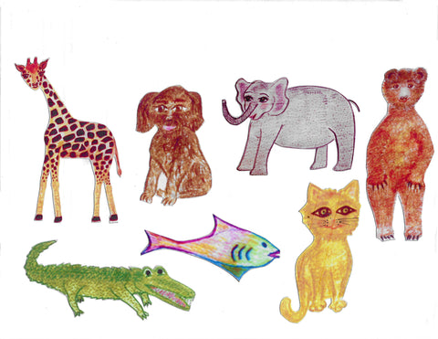 Piano Land Animal Magnets