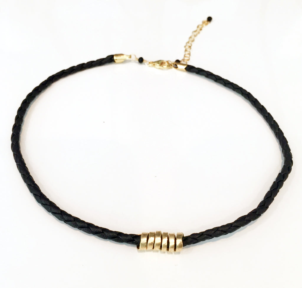 Spiral Leather Choker