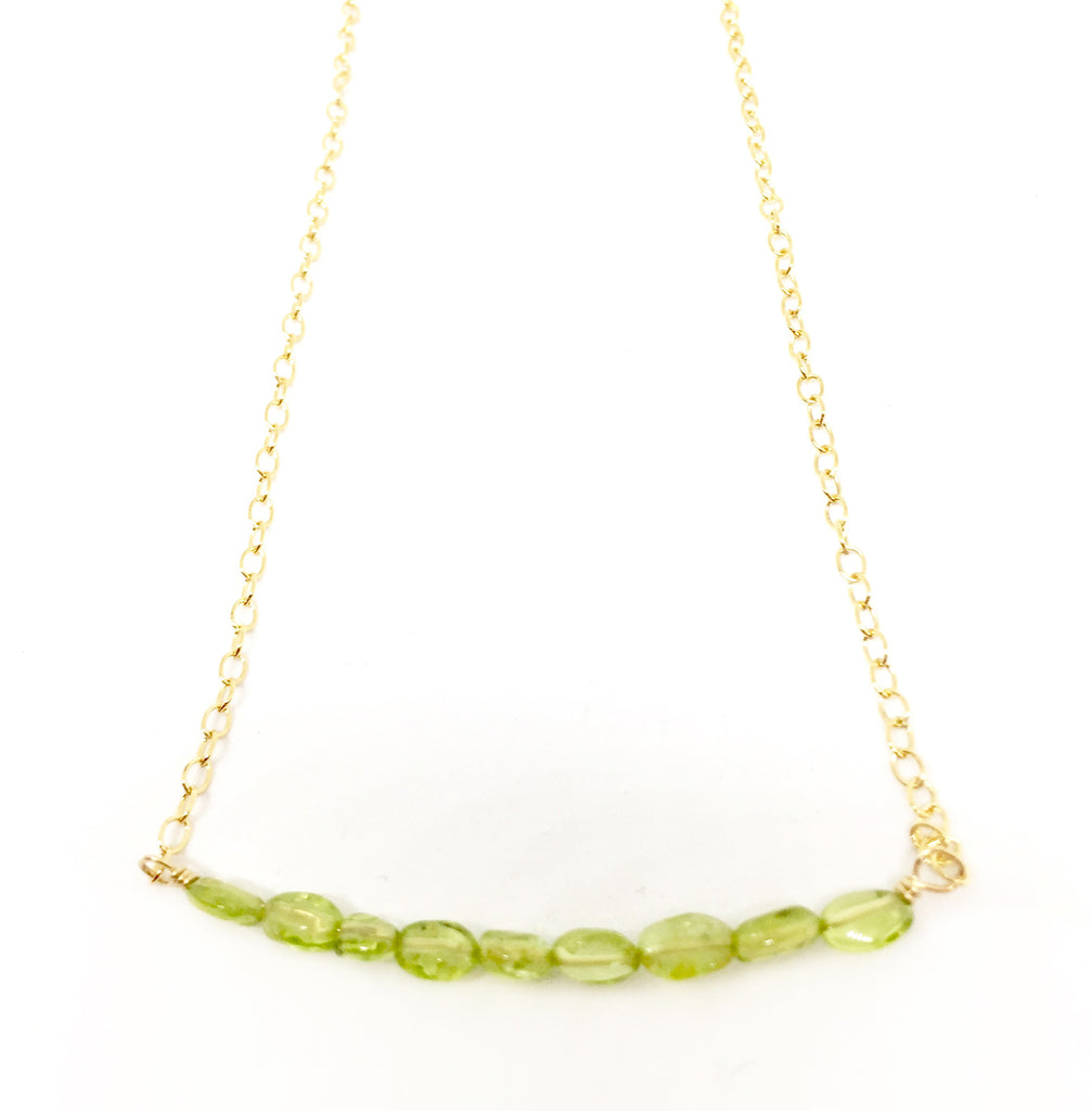 Peridot Arc Necklace