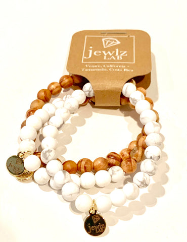 White Turquoise Stretch Trio #pop-of-color