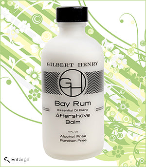 Gilbert Henry Bay Rum Aftershave Balm with Aloe and Essential Oils