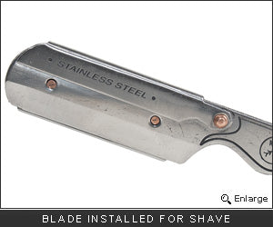 Parker SR1 Stainless Steel Straight Edge Razor