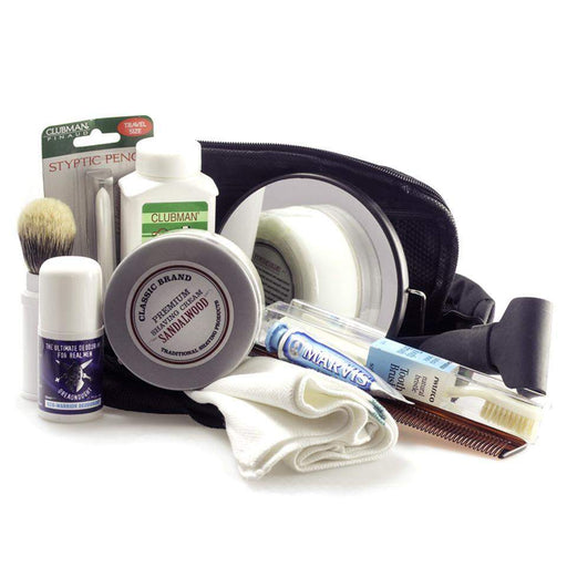 12 Piece Ready to Go D/E Travel Kit-(just add your razor and blades)-