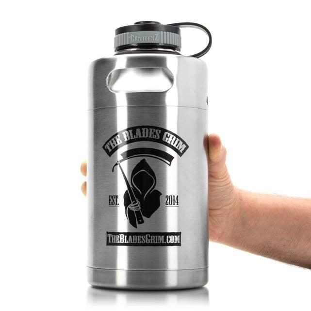 The Blades Grim Growler! 64 oz Mini-Keg
