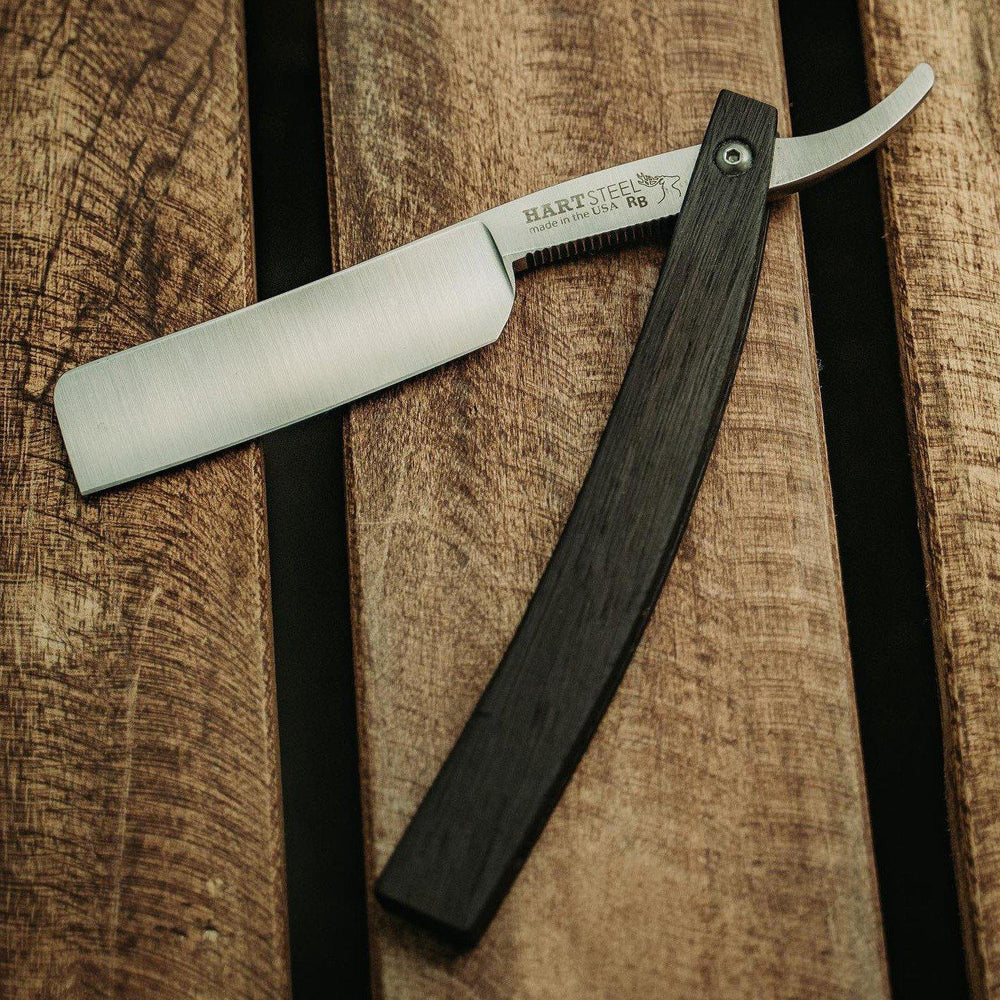 Hart Steel 6/8 Satin Finish Square Point Straight Razor