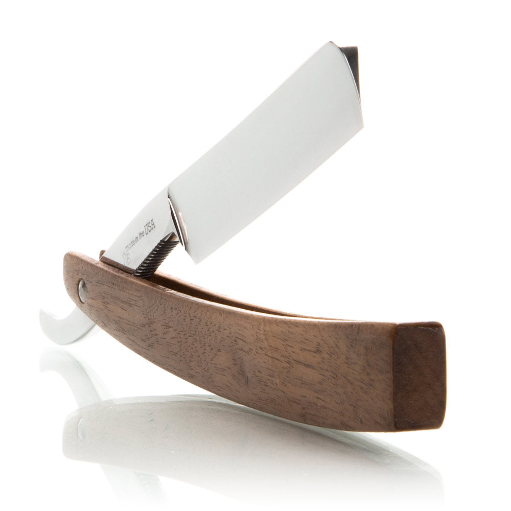 5/8 Walnut Hart Steel Straight Razor With Mirror Finish