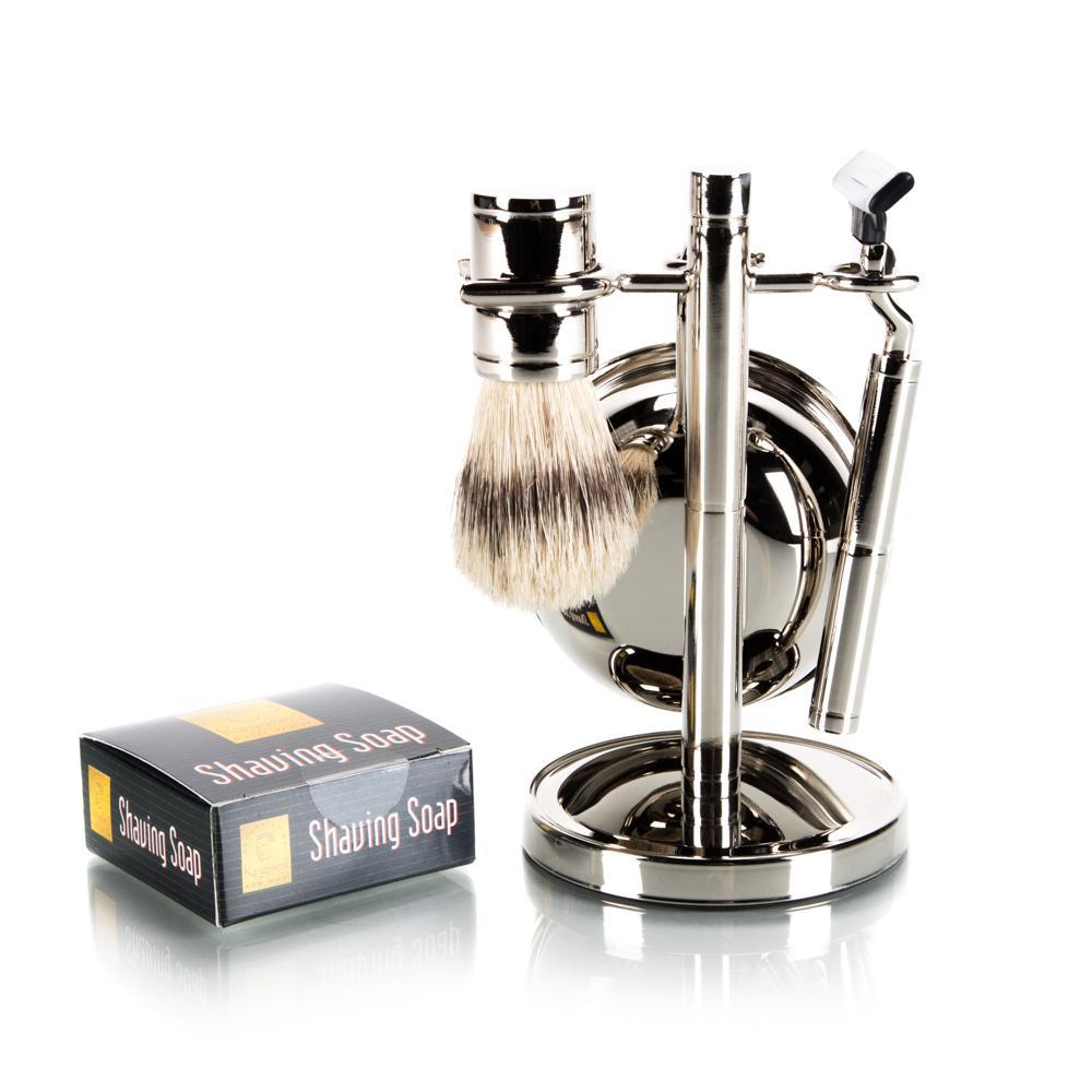 Kingsley 4 Piece Mach III Shave Set