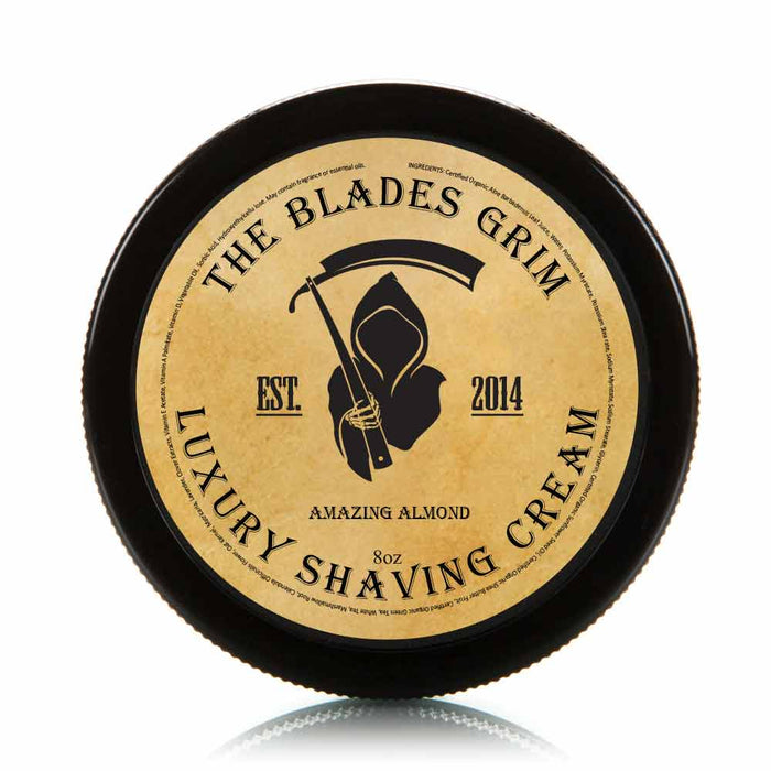 Amazing Almond - The Blades Grim 8 oz Luxury Shaving Cream
