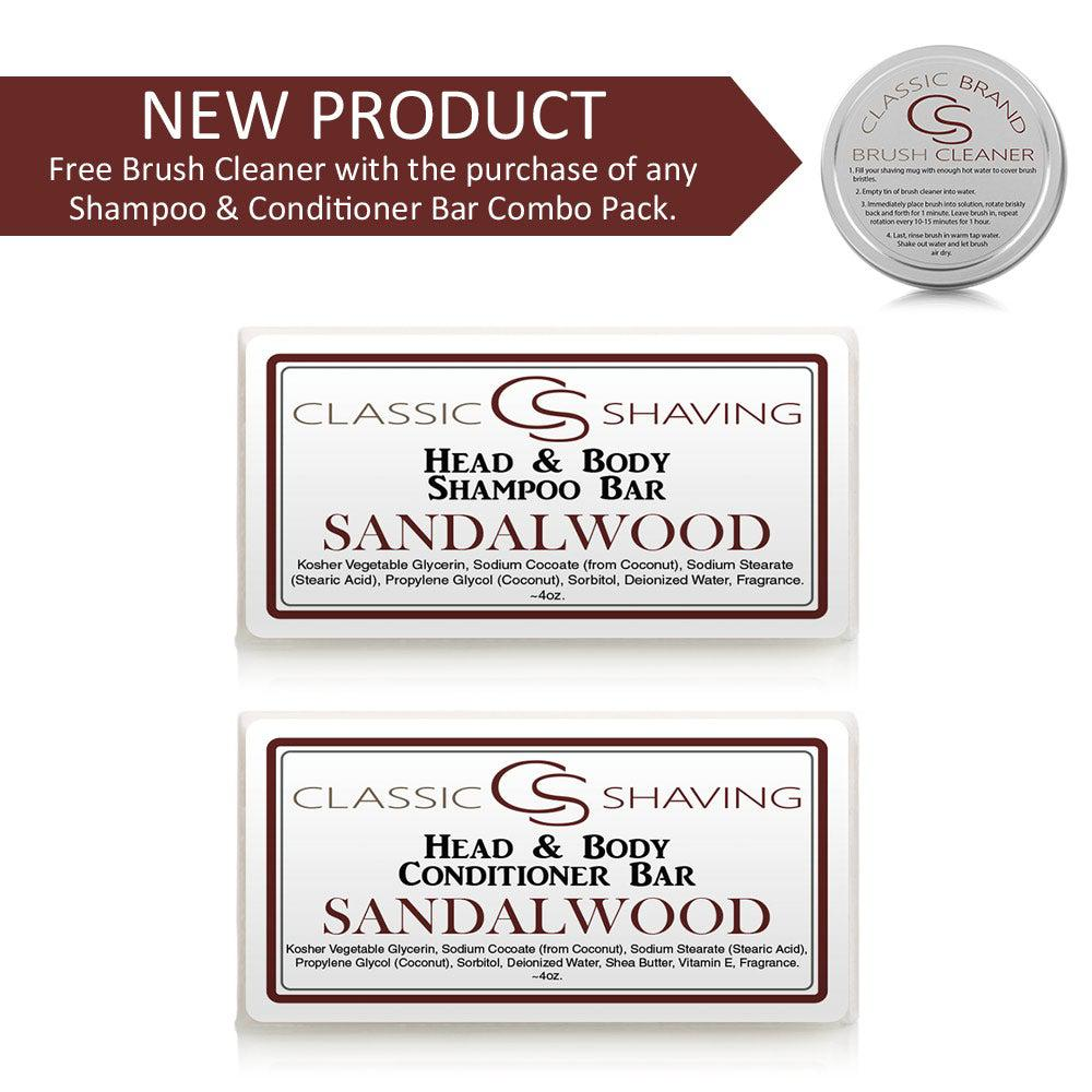 Classic Shaving - Shampoo & Conditioner Bar Combo