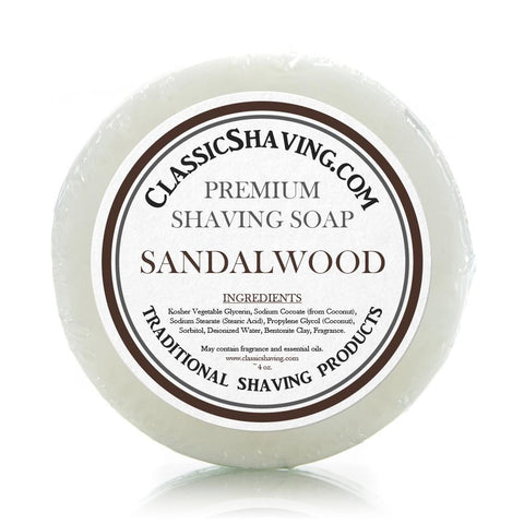 "Classic Brand Wet Shaving Mug Soap - 3"" Sandalwood"