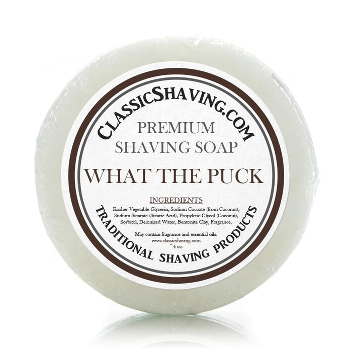 "Classic Shaving Mug Soap - 3"" Large - ""What The Puck"""