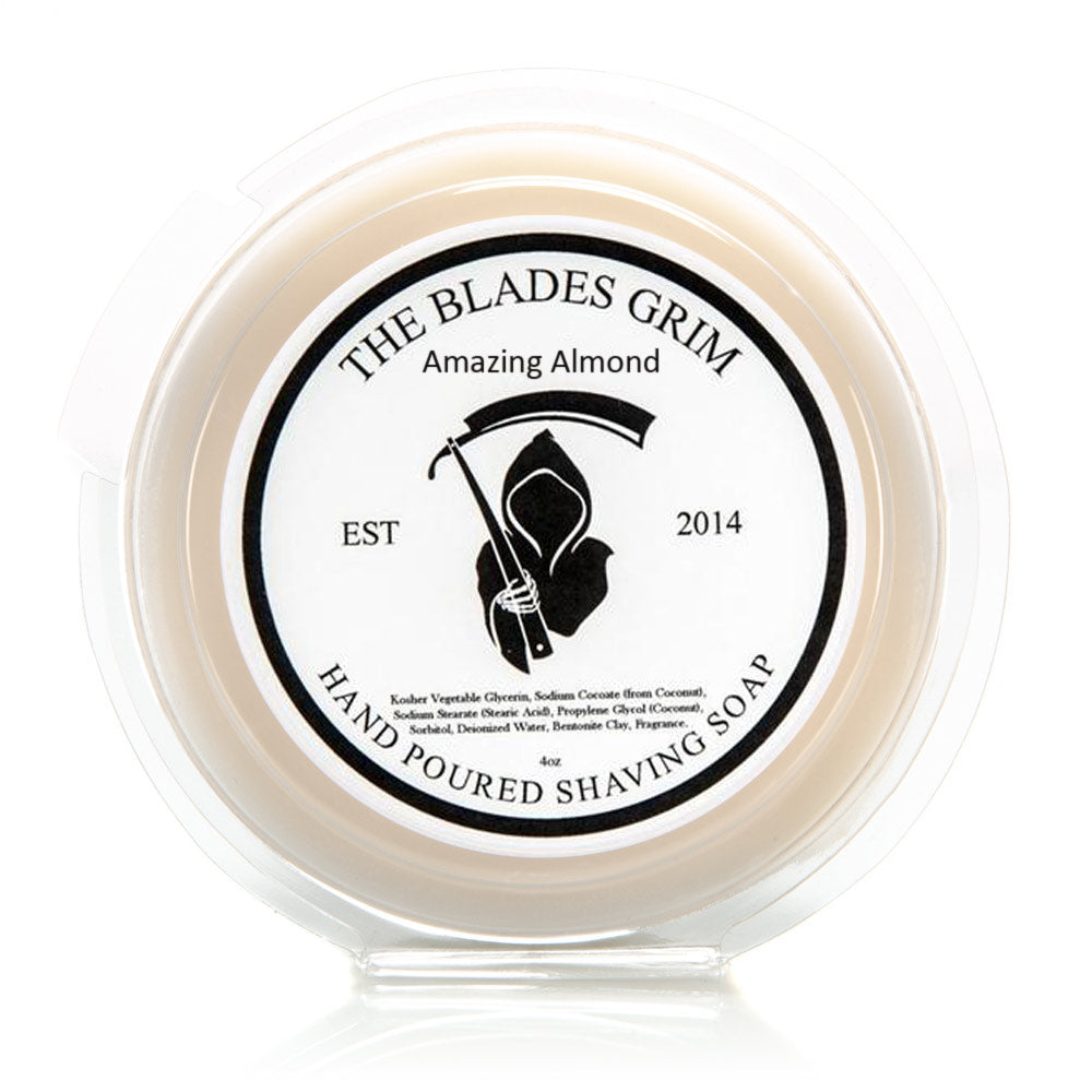 "Amazing Almond - The Blades Grim 3"" Shave Soap"