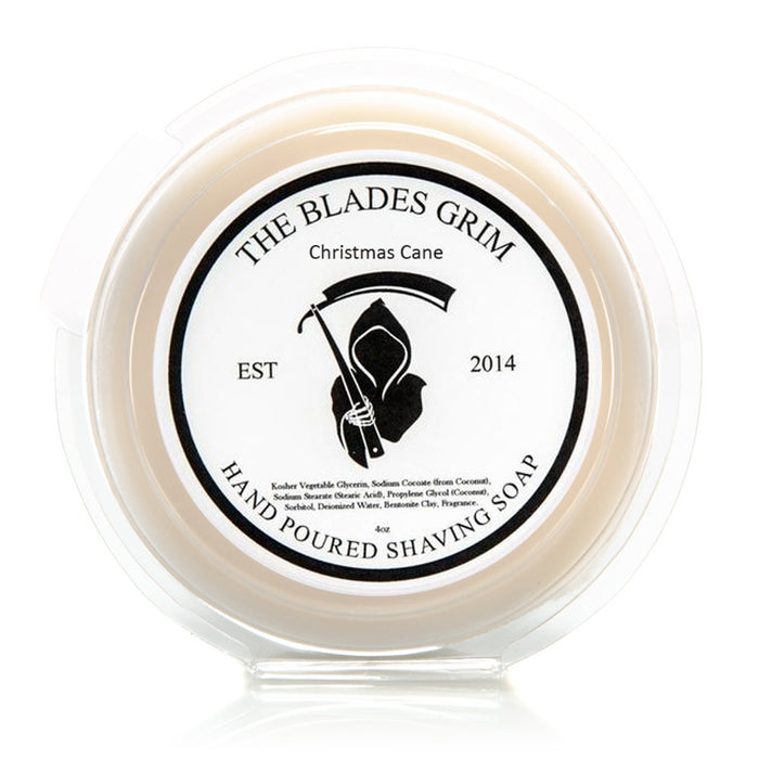 "Christmas Cane - The Blades Grim 3"" Shave Soap"