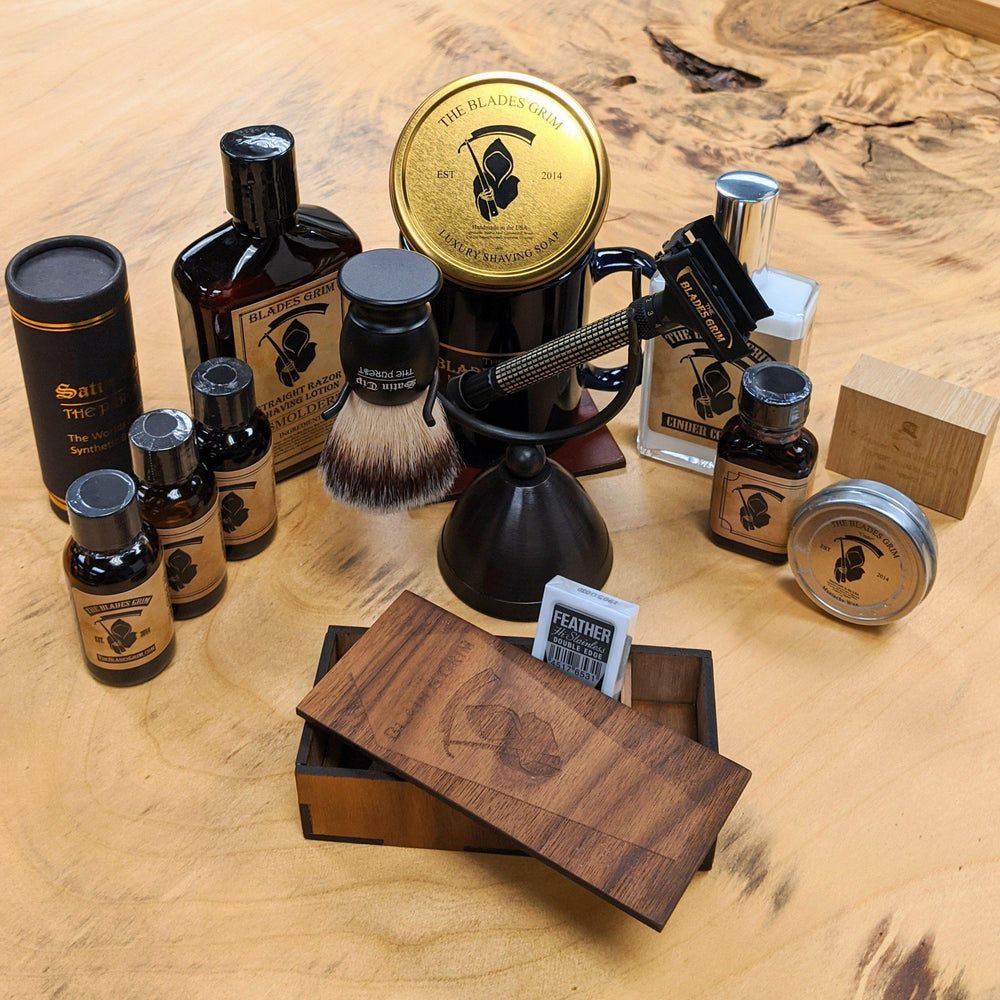 Holiday Special - The Blades Grim Custom Adjustable Safety Razor Sets
