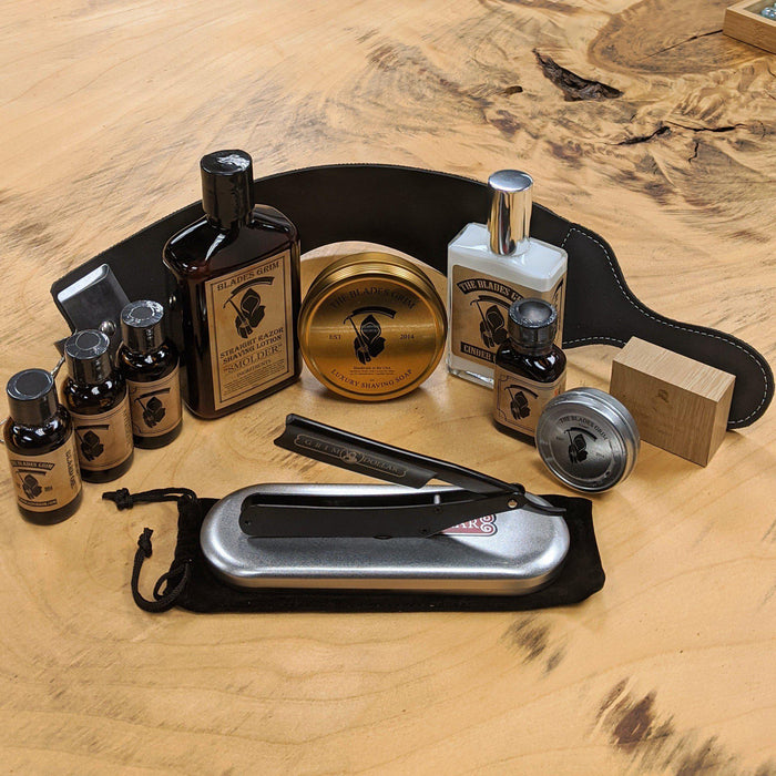 Holiday Special - Grim Dollar Custom Straight Razor Sets