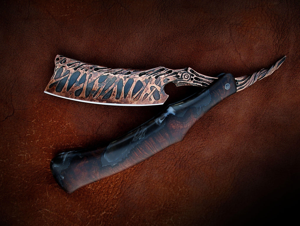 Dylan Farnham Copper Plated Straight Razor