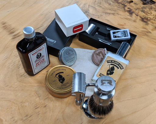 The Occam's DE Safety Razor & Rearden Razor Brush Set