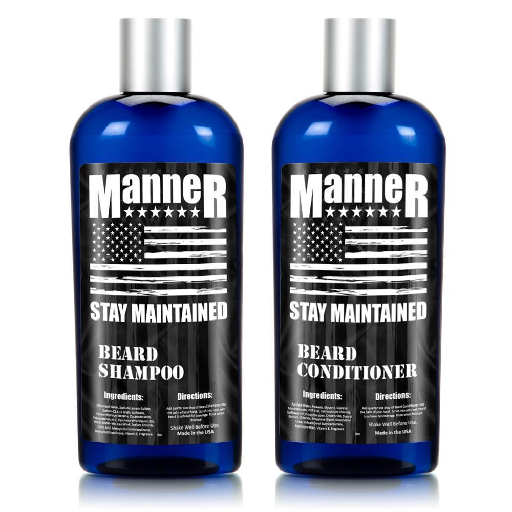 Manner Beard Shampoo and Beard Conditioner Combo
