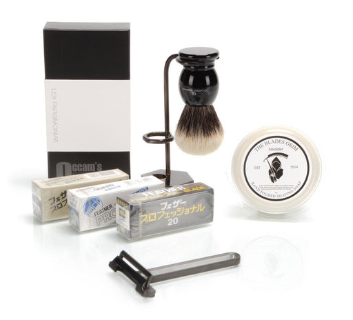 O.R.E.N. Razor - Occam's Razor Enhanced Nano BLACK - Shave Kit
