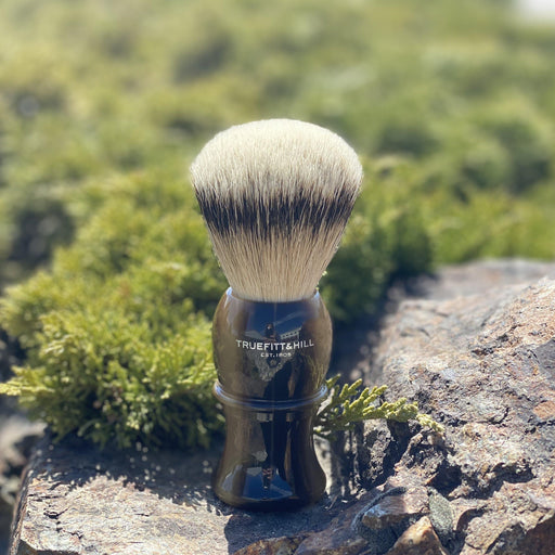 "Truefitt & Hill Shaving Brush Style 3 Large ""Silvertip Badger"" - Horn"