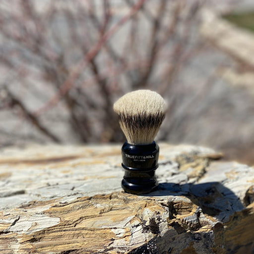 "Truefitt & Hill Shaving Brush ""Silvertip Badger"" - Black"