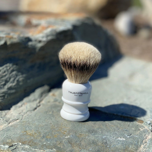 "Truefitt & Hill Shaving Brush ""Silvertip Badger"" - White"