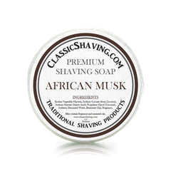 "African Musk Scent - Classic Shaving Mug Soap - 2.5"" Regular Size-"