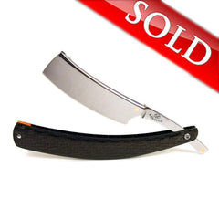 "Alex Jacques Custom 7/8"" Straight Razor With Twill Weave Carbon Fiber Scales-"
