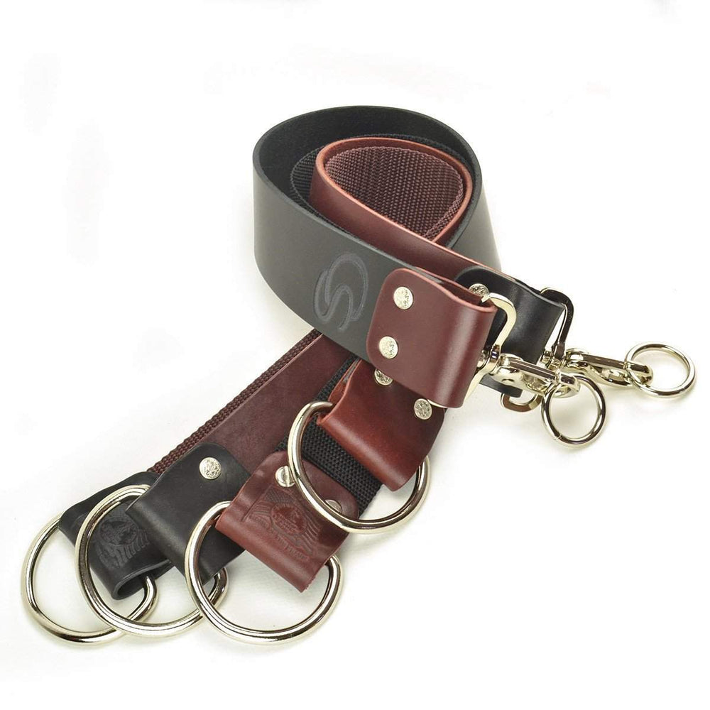 "American Made 2"" Mountain Strop - D-rings - Two Color-Mahogany w/ Black Accents"