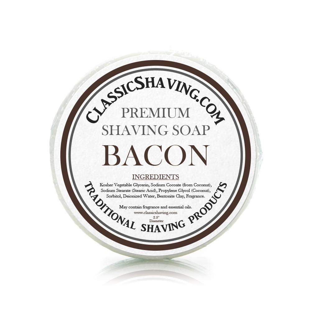 "Bacon Scent - Classic Shaving Mug Soap - 2.5"" Regular Size-"