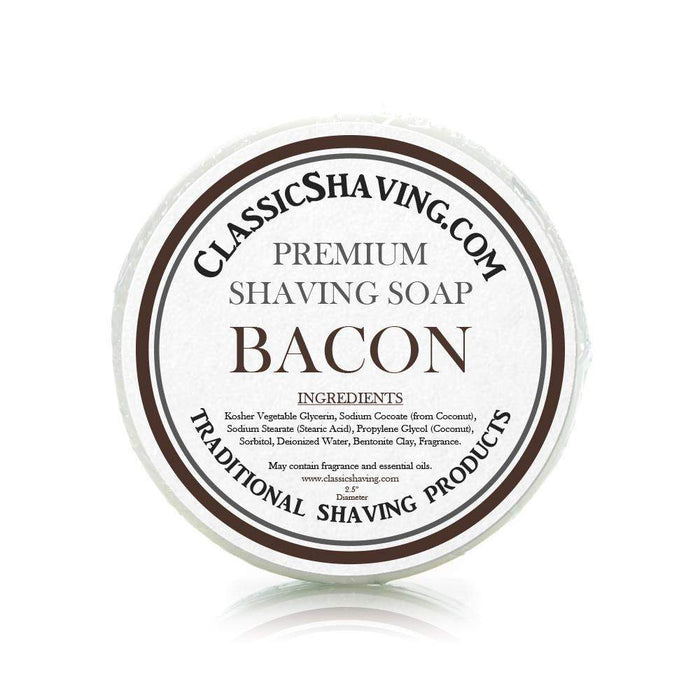 "Bacon Scent - Classic Shaving Mug Soap - 2.5"" Scuttle-"