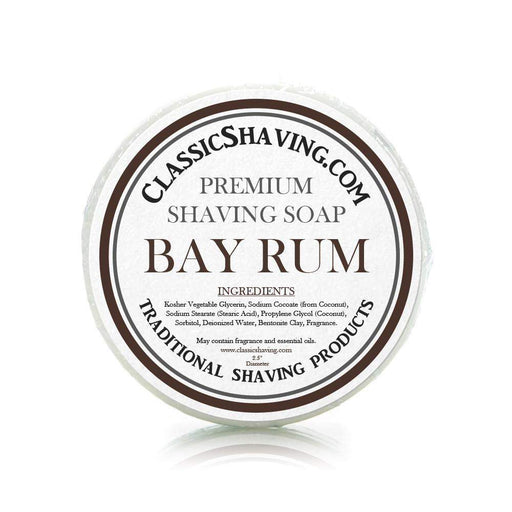 "Bay Rum Scent - Classic Shaving Mug Soap - 2.5"" Regular Size-"