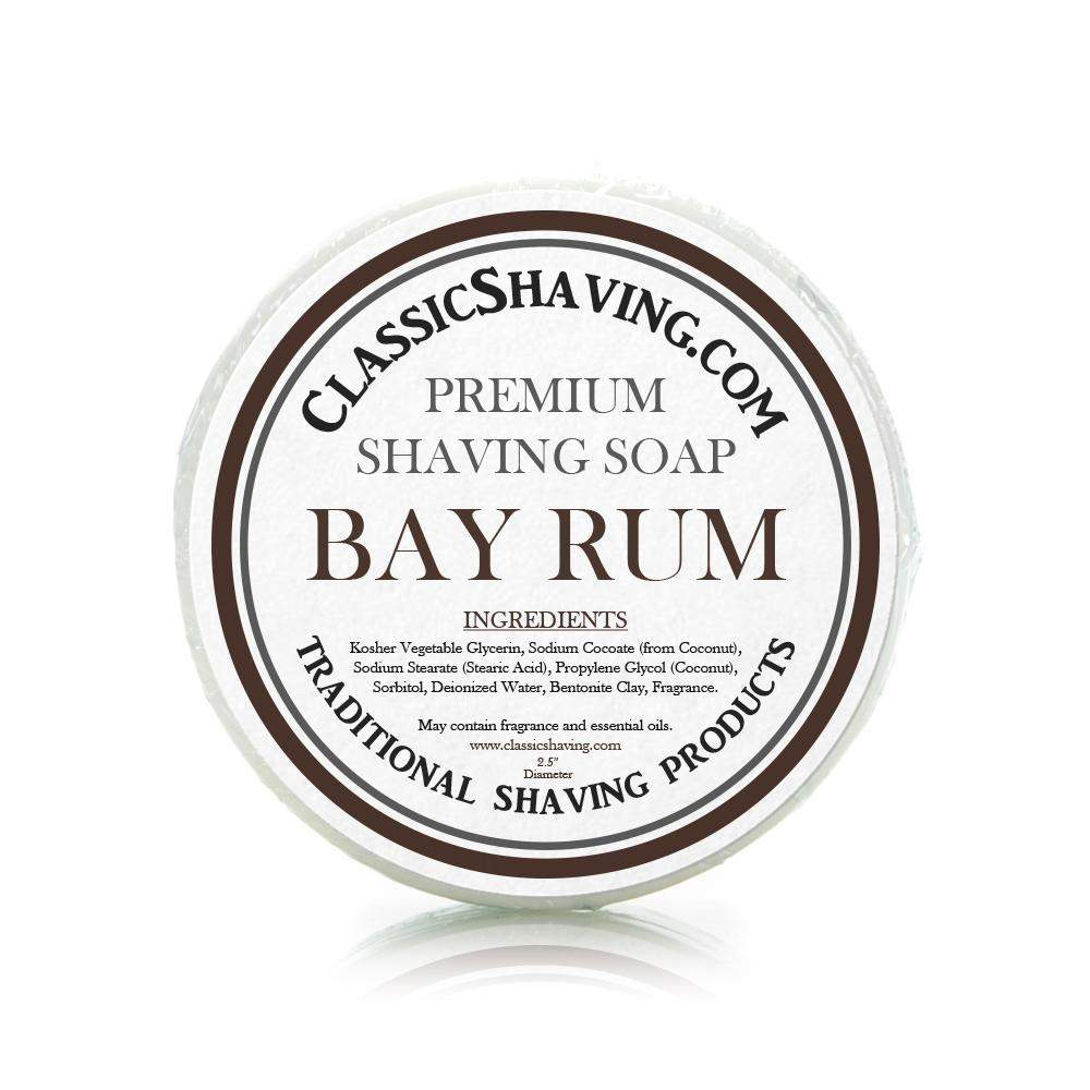 "Bay Rum Scent - Classic Shaving Mug Soap - 2.5"" Scuttle-"